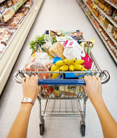economii in supermarket